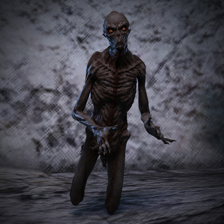 incubus: 3D rendering of a creepy monster