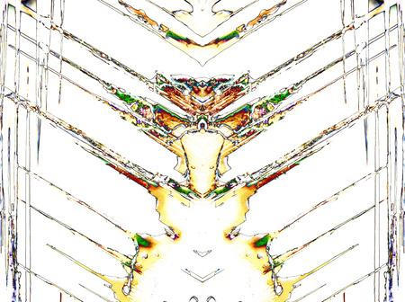 psique: Micro Photography of Microcrystals mirrored Foto de archivo
