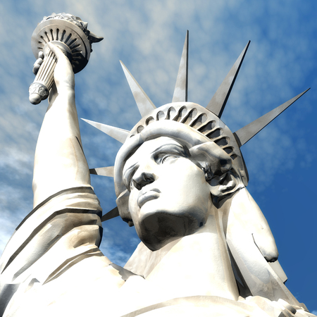 criticism: 3D Rendering, 3D Illustration of the Statue of Liberty
