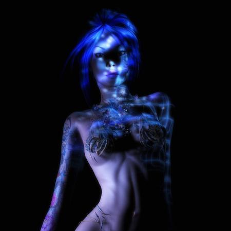 Digital 3D Illustration, 3D Rendering of a Fantasy Woman