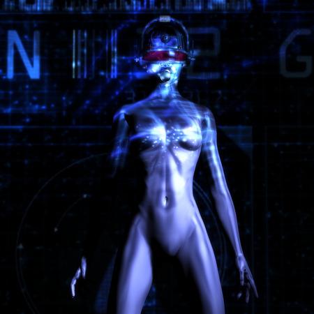 erotical: Digital 3D Illustration of a Fembot