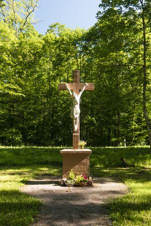 Crucifix in the Spessart in Germany