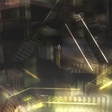 3D Illustration of an Interior Illusion