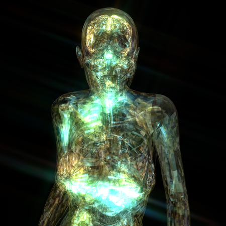 astral: 3D Illustration of a human Anatomy