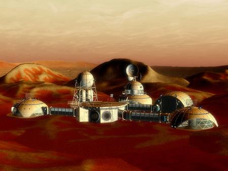 3D-illustratie van een ruimtestation