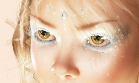 Digital 3D Illustration of Fairy Eyes Stock Photo