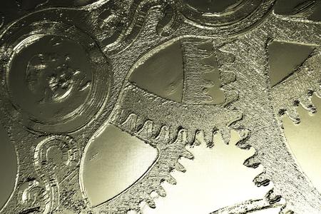 時計じかけのデジタル 3 D イラストレーション 写真素材