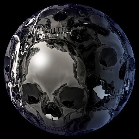 nightmarish: Digital 3D Illustration of a mystic female Eye