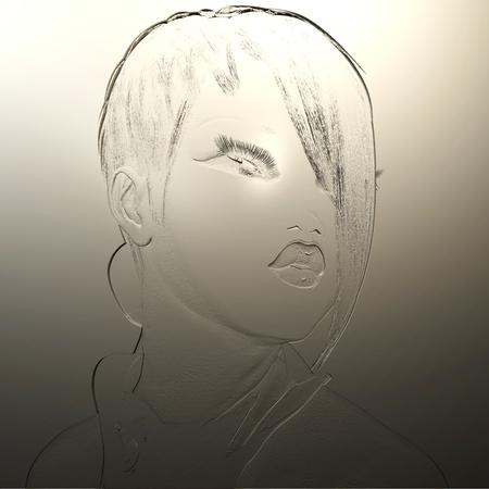 Digitale 3D-Illustration eines weiblichen Reliefs Standard-Bild - 86078707