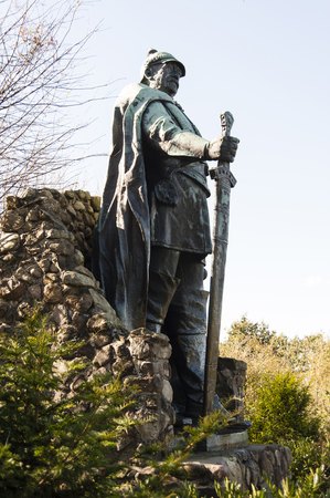 Bismarck monument on the Aschberg mountain in the Huettener mountains, Germany