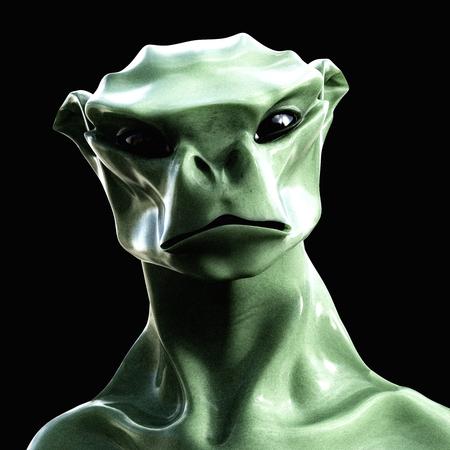 Digital 3D Illustration of a creepy Creature Stock Photo