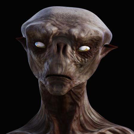 Digitale 3D-afbeelding van een griezelig schepsel