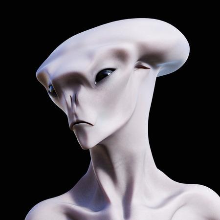 Digital 3D Illustration of a creepy Creature Banque d'images