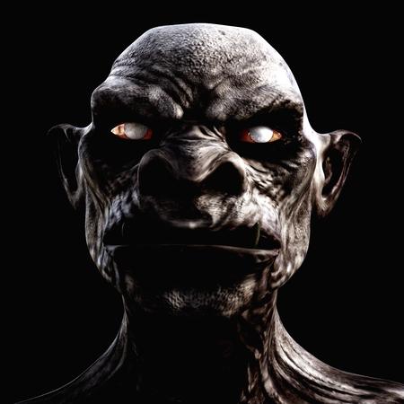 Illustration 3D numérique d'une créature effrayant Banque d'images