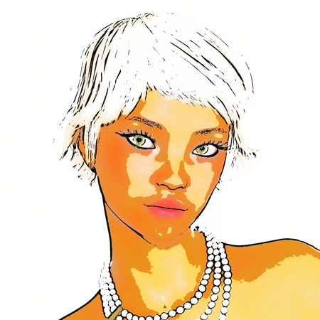 Digital 3D Illustration of an attractive Female Banque d'images
