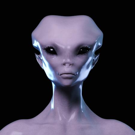 Digital 3D Illustration of an Alien Stock Photo