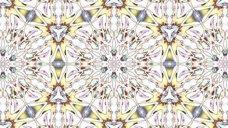 Digital Illustration of a kaleidoscopic Mandala