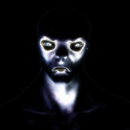 Digital 3D Illustration of a creepy Creature 스톡 콘텐츠