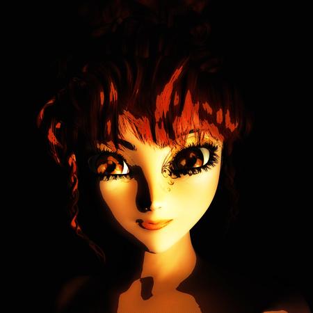 Digital 3D Illustration of a Female Fairy