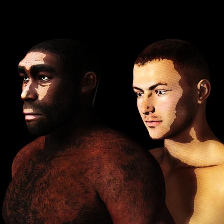 Digital 3D Illustration of a Homo Erectus