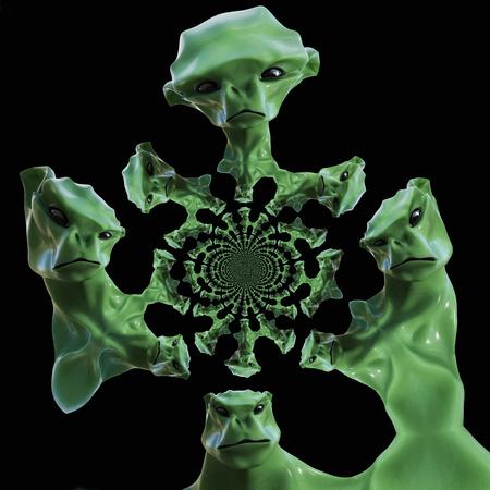 Digital 3D Illustration of a creepy Creature Stockfoto