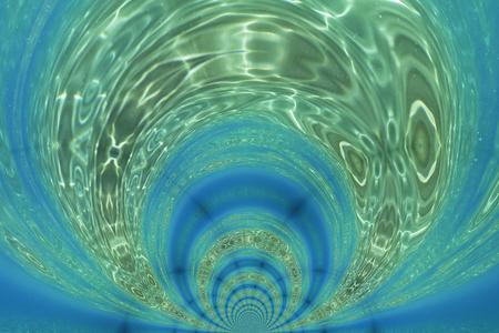 Kaleidoscopic Pattern of an Underwater Scene, based on own Reference Image Standard-Bild