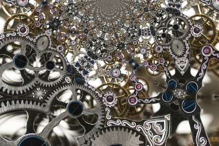 Kaleidoscopic Pattern of a Clockwork, based on own Reference Image