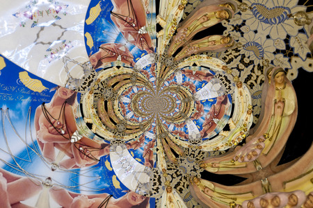 Kaleidoscopic Pattern of a Shop Window, based on own Reference Image 写真素材