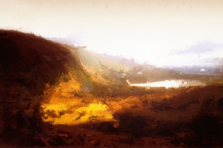 Digital Painting of a Landscape