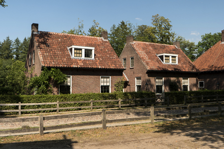 LANDGOED SINGRAVEN, NETHERLANDS - JULY 31, 2018: The Singraven estate is uniquely situated along the Dinkel near the village of Denekamp. On the estate there are many special listed buildings, among them the dignified house Singraven. 에디토리얼