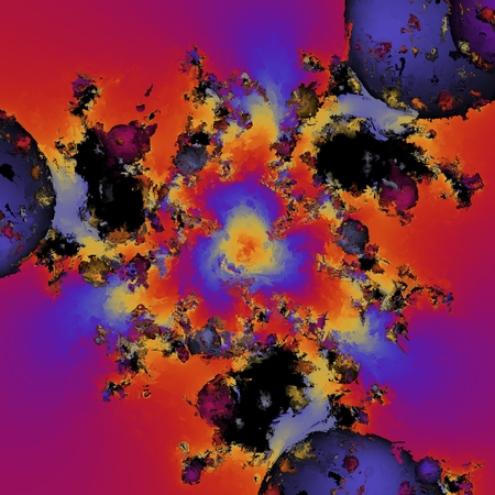 Digital Painting of a fractal Pattern Stockfoto