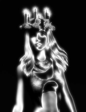 Digital 3D Illustration of a Fantasy Woman Banque d'images
