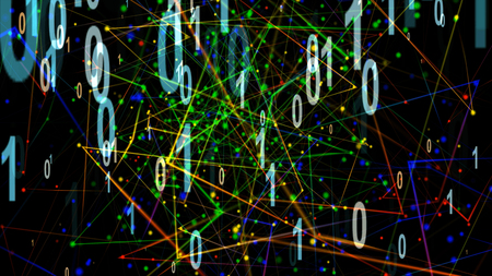Particle Illustration of Digitalization