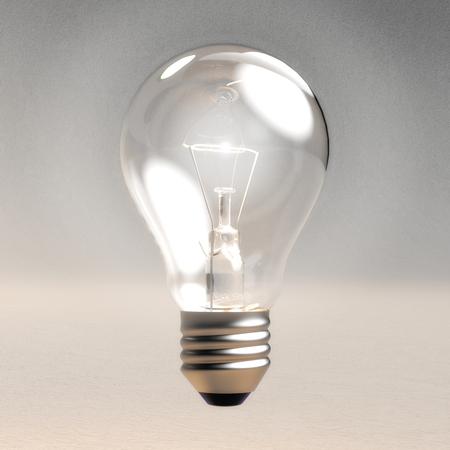 Digital 3D Illustration of a Light Bulb Фото со стока