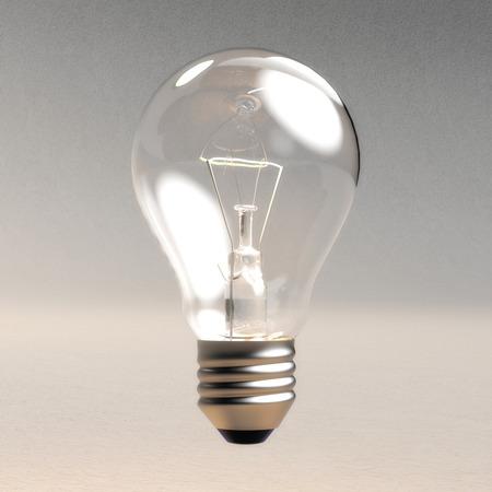 Illustrazione digitale 3D di una lampadina Archivio Fotografico