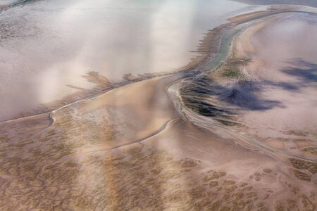 Aerial Photo of the Schleswig-Holstein Wadden Sea National Park in Germany Imagens - 124890872
