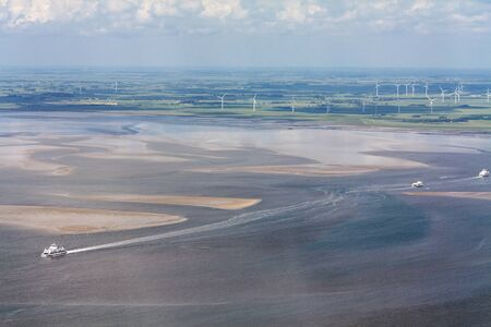 Aerial Photo of the Schleswig-Holstein Wadden Sea National Park in Germany Standard-Bild - 124890887