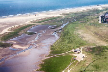 St. Peter-Ording, Aerial Photo of the Schleswig-Holstein Wadden Sea National Park in Germany Imagens - 124890923