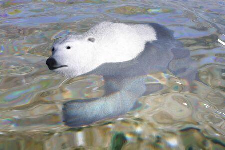 Digital 3D Illustration of a Polar Bear