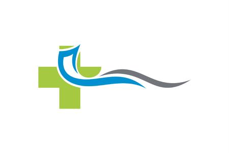Medical clinic logo template. Illustration