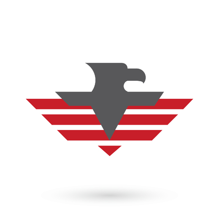Military Logo Template With Eagle Icon Royalty Free Cliparts