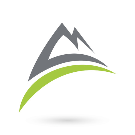 Mountain nature logo icon.