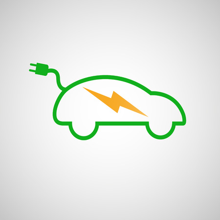 electric car: Electric car icon Illustration
