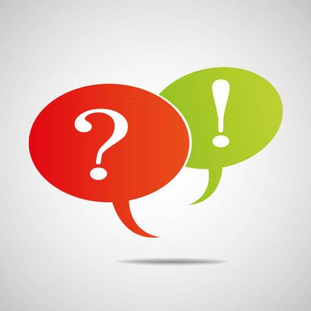 Vraagteken en uitroepteken Stock Illustratie