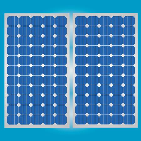 クリーン エネルギーのための太陽電池パネル  イラスト・ベクター素材