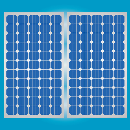 Solar cell panel for clean energy  Illustration