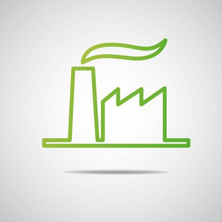industrial icon: Eco industrial icon  Illustration