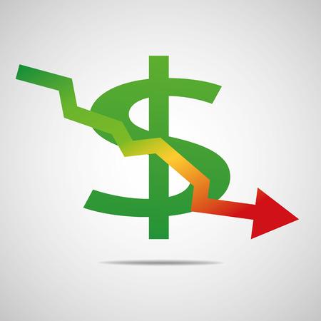 derivation: dollar graph down