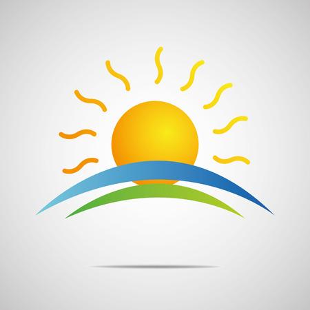 太陽アイコン イラスト デザイン  イラスト・ベクター素材