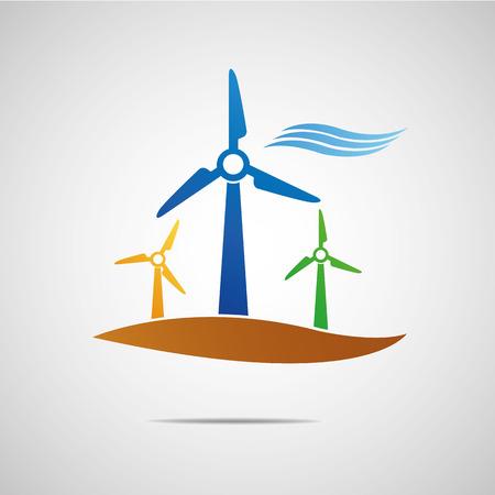 wind turbine: Wind turbine icon Illustration